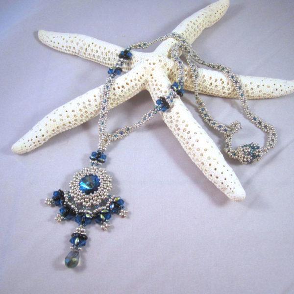 Silver/Blue Medallion