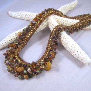 Double Gemstone Spiral - Amber