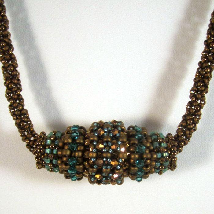 Oblong Slider - Bronze/Turquoise