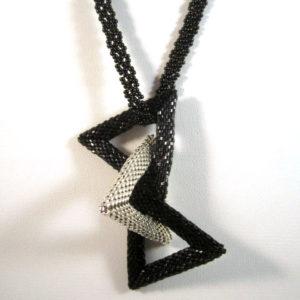 Triple Triangles - Black/Silver